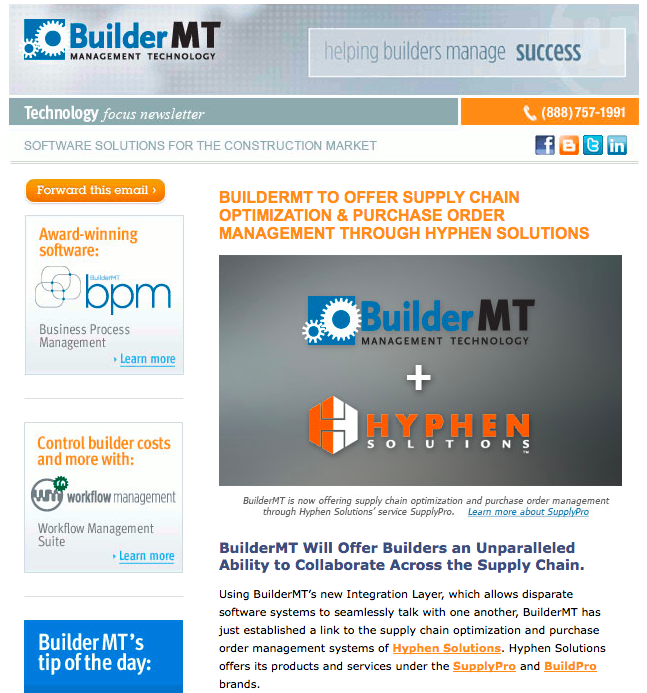 BuilderMT eNewsletter